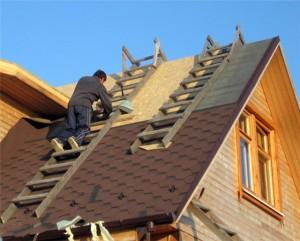 строительство крыши дачного домика