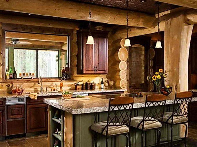 пристройка с кухней к загородному домику