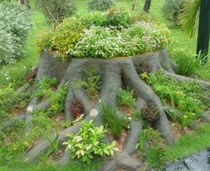 оригинальная садовая клумба