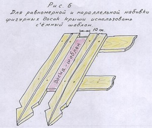 Параллельная набивка фигурных досок