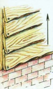 Рисунок - крыша декоративного навеса