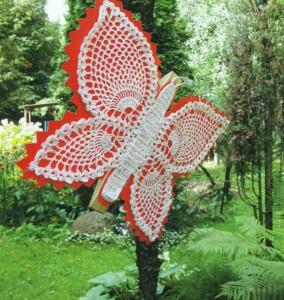 Бабочка, связанная крючком своими руками