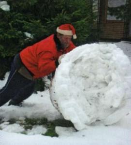 Создание снежной фигуры