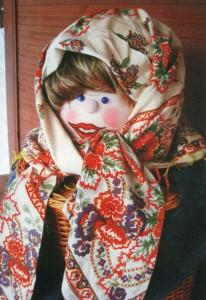 Кукла для украшения дачного участка