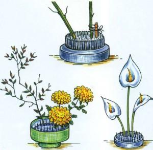 Схемы составления цветочных украшений