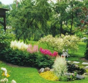 Украшение садовой клумбы