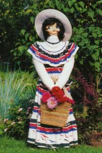 Садовая скульптура Брюнетка
