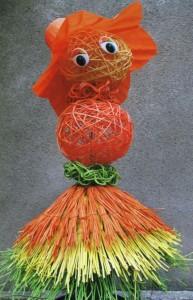 Садовая кукла Оранжевая девочка