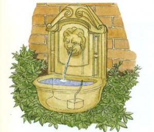 Устройство дачного фонтана