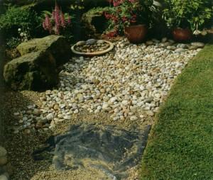 Работы по обустройству пруда в саду