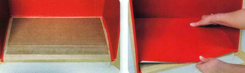 Выкроите из бумаги единую деталь для обшивки