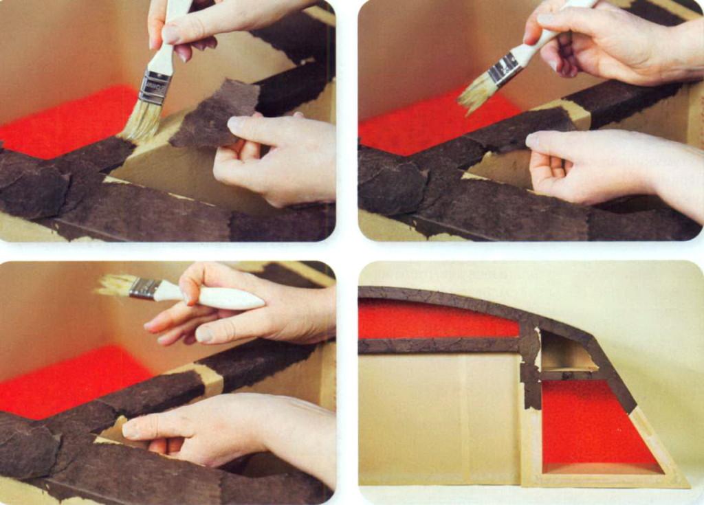 Покрытие декоративной бумагой