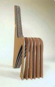 Деталь картонного стула