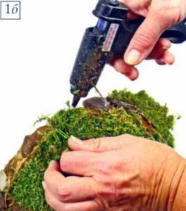 Используем мох, кору для декора
