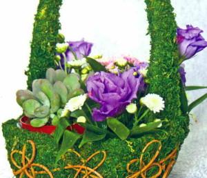 Пот-э-флер с хризантемами