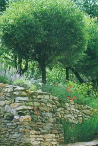 Каменная изгородь в саду
