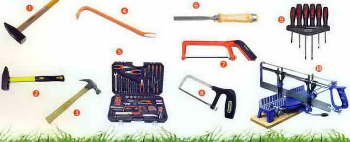 Основной набор инструментов для дачи