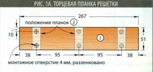 Торцевая планка решетка