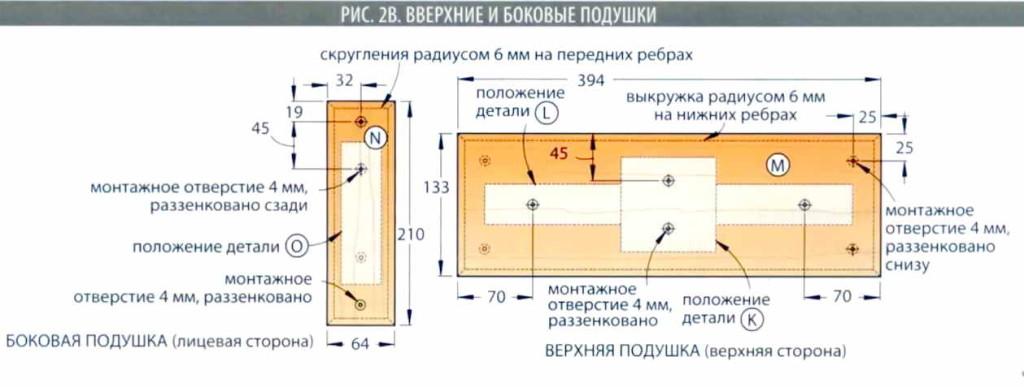 Верхние и боковые подушки