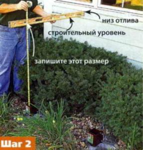 Измеряем высоту опоры