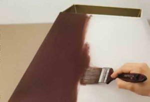 Окраска верхней части