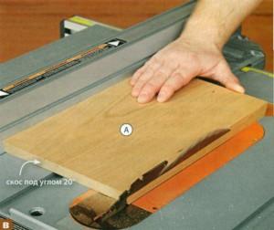 Распиливание деревянных деталей