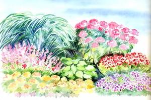 Волнообразный цветник в саду от Пита Удольфа