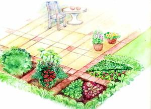 Сад пряных трав возле зоны отдыха