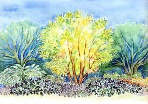 Желто-пестрая композиция