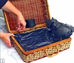 Обшиваем чемоданчик изнутри