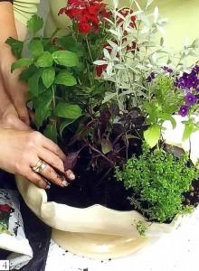 Добавьте более низкие растения