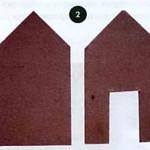 Вырезаем боковые стороны дома