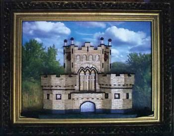 Замок из спичек на картине