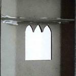Ставим согнутую деталь на лист картона
