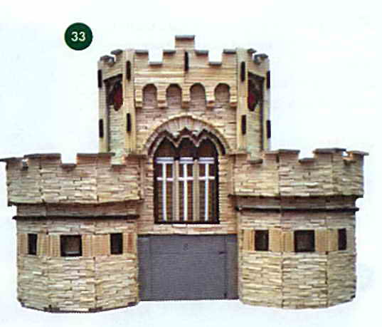 Приклеиваем боковые башни к замку