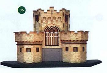 Приклеиваем замок на основание