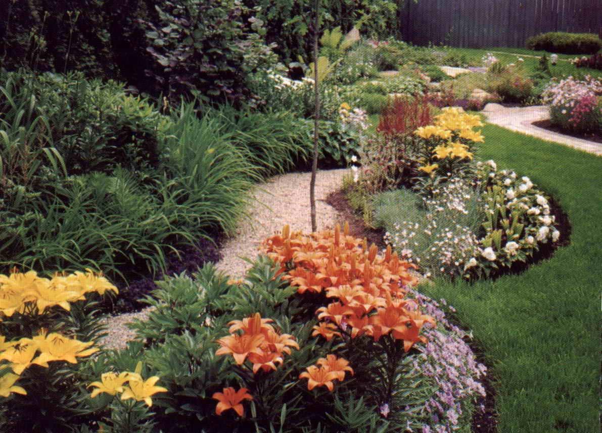 Посадка цветов в саду 22 фотография