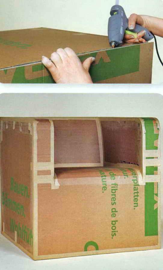 Как сделать мебель своими руками из картона для кукол