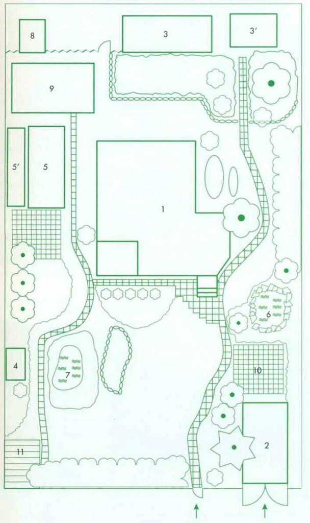 Планировка участка 6 соток