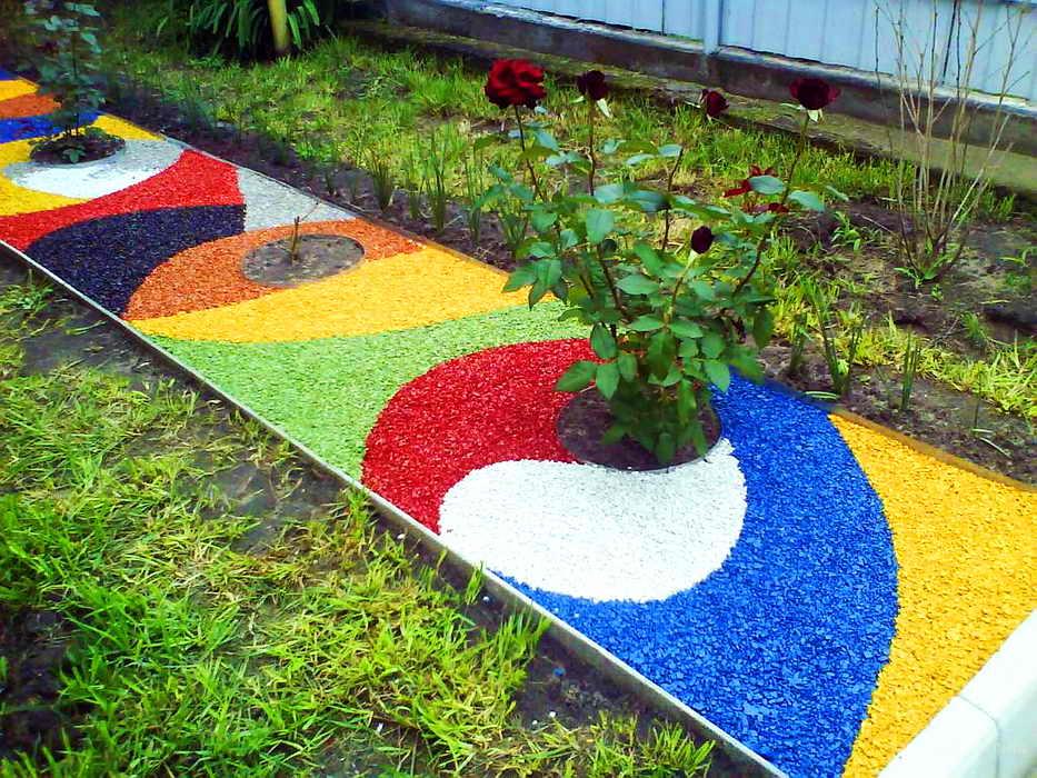 Как создать газон из камня и щебня вместо травы Дача - впрок